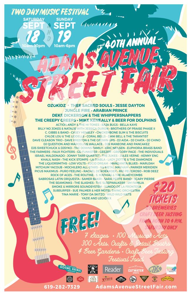 2021 Adams Avenue Street Fair Poster