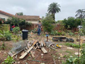 Vera House Community Garden being Razed